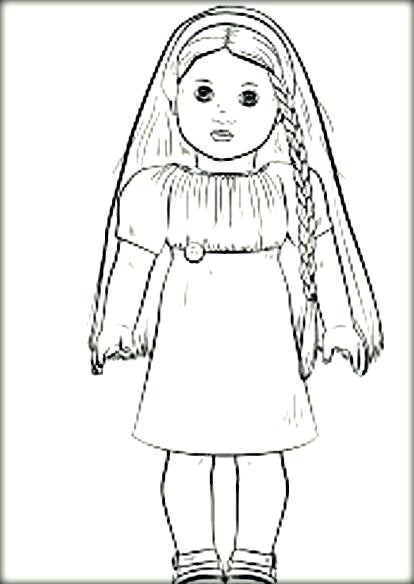 American Girl Doll Coloring Pages  home improvement American girl doll coloring pages