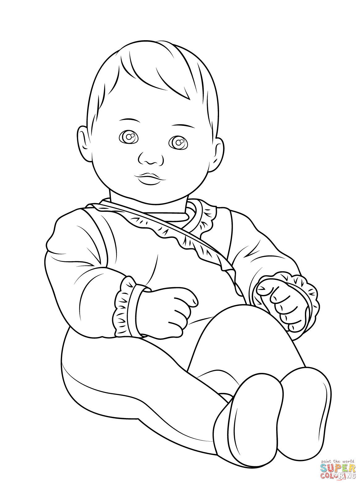 American Girl Doll Coloring Pages  American Girl Bitty Baby coloring page