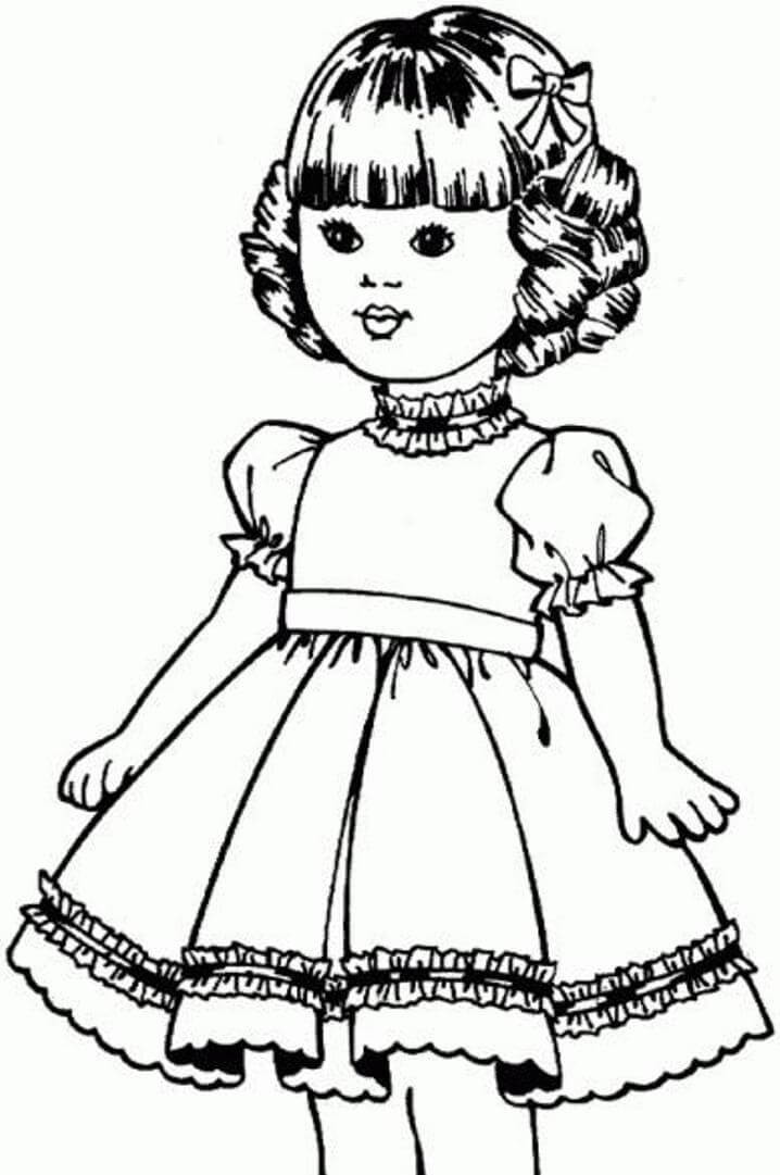 American Girl Doll Coloring Pages  American Girl Doll Coloring