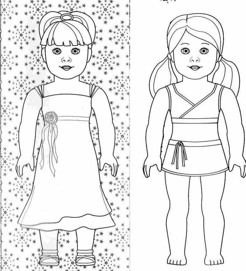 American Girl Doll Coloring Pages  American Girl Doll Coloring Pages Bestofcoloring