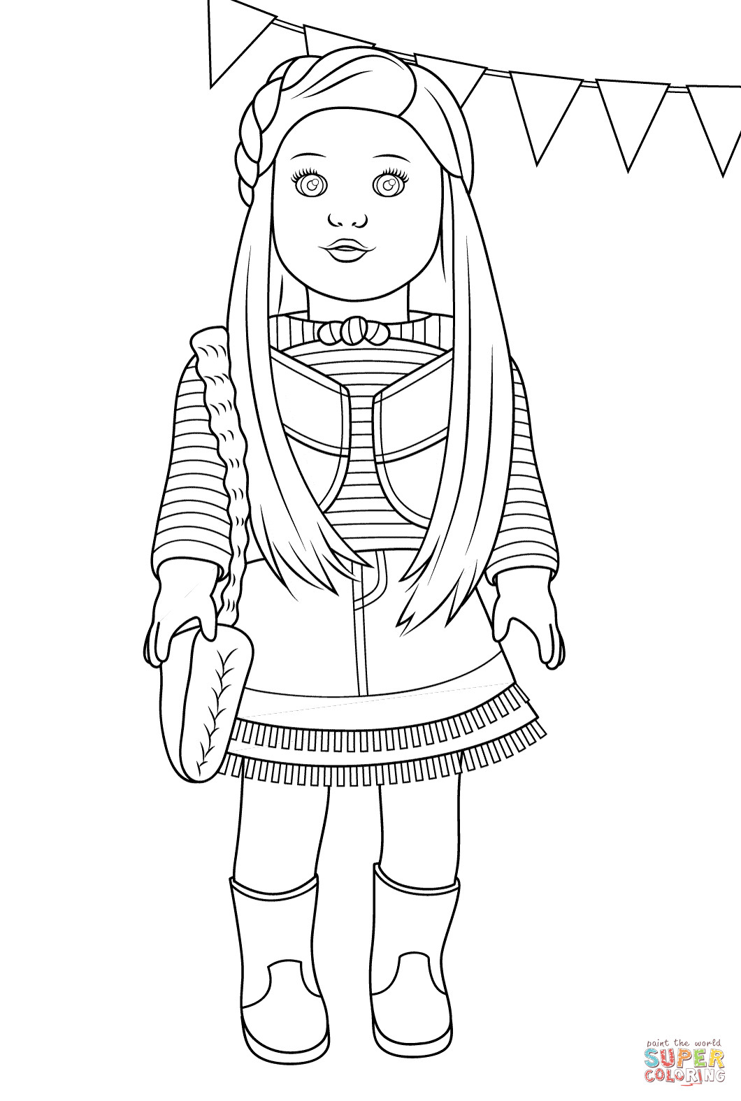 American Girl Doll Coloring Pages  American Girl Mckenna coloring page
