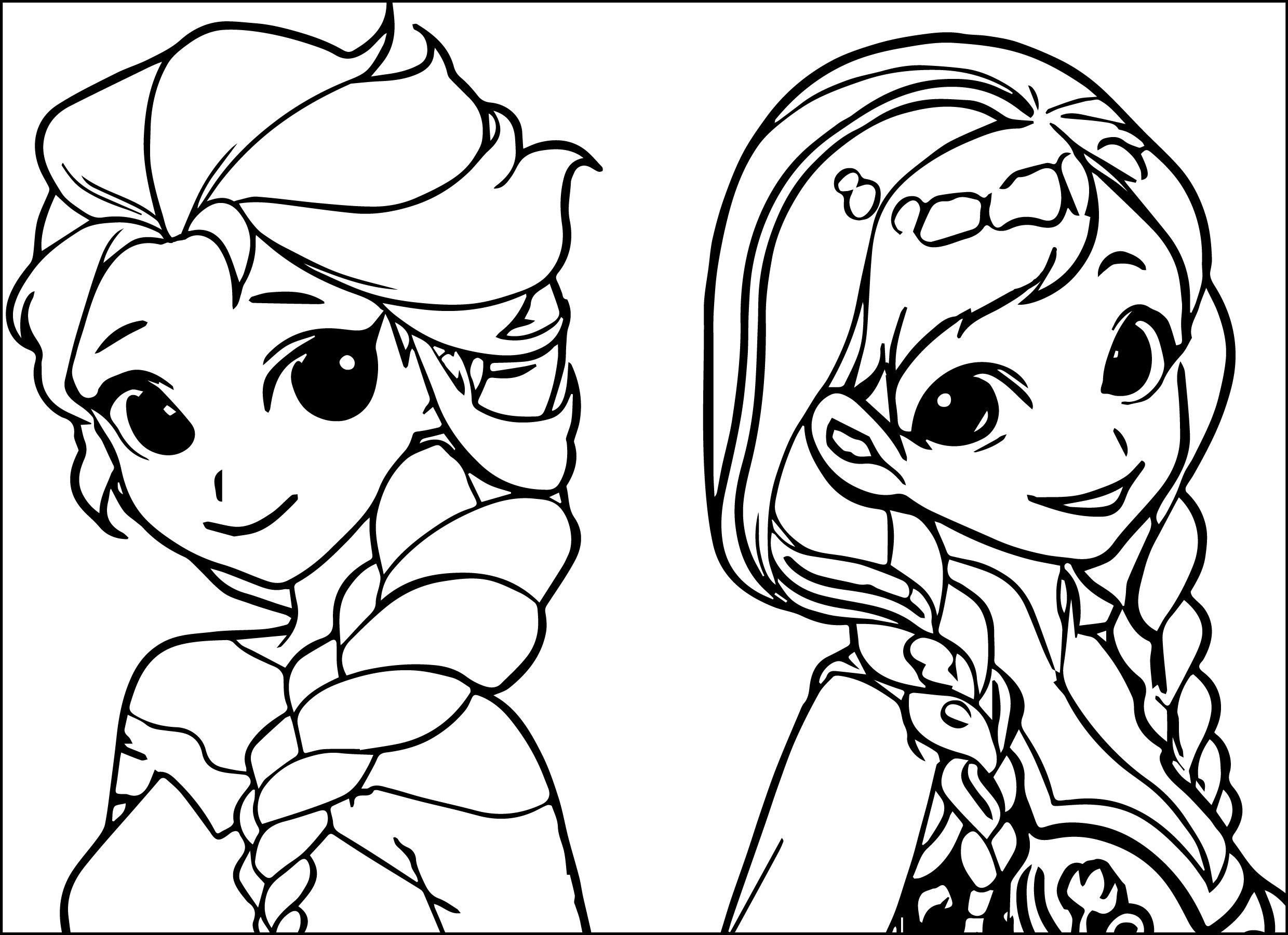 Ana And Elsa Coloring Pages  Anna Coloring Pages coloringsuite