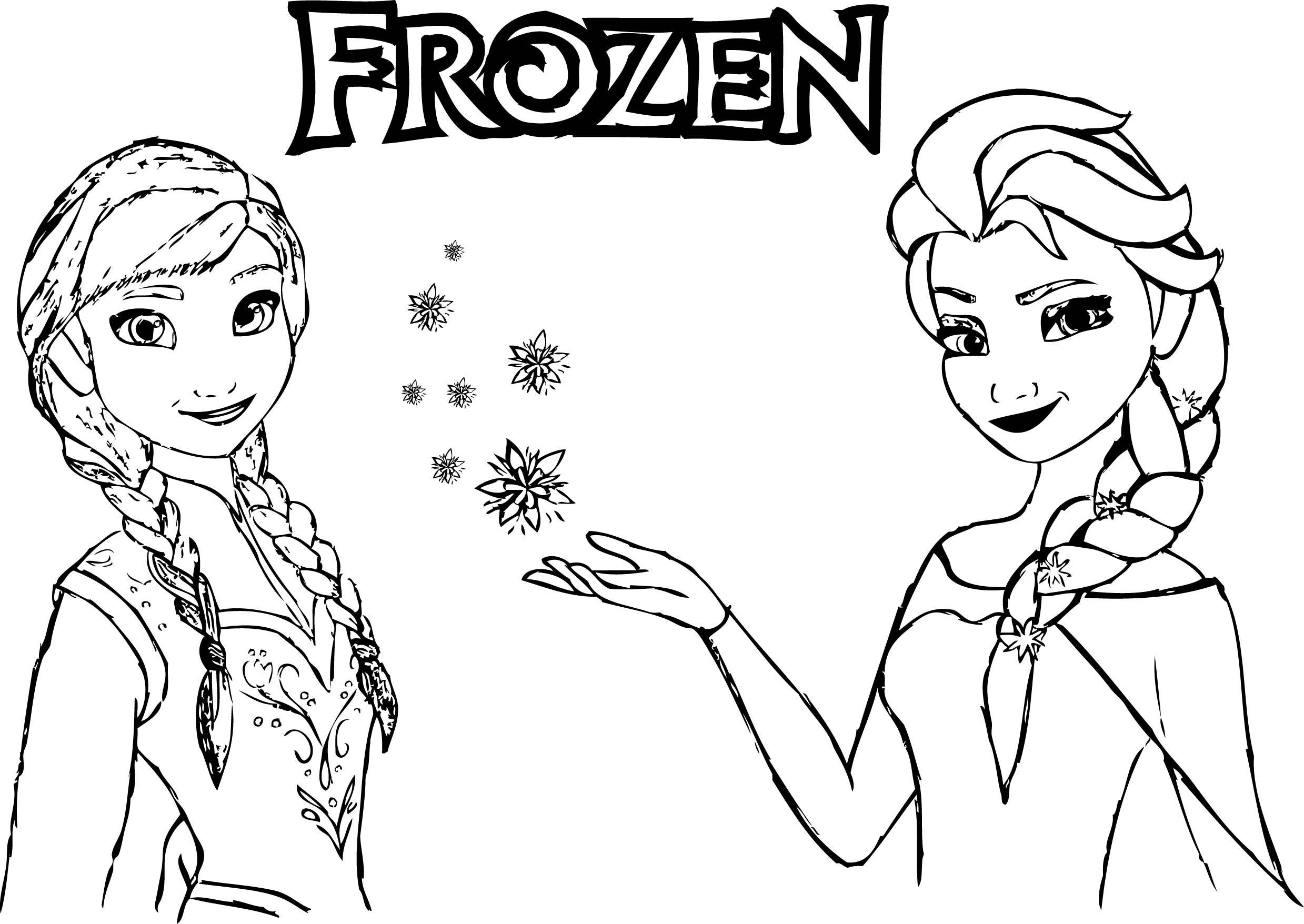 Ana And Elsa Coloring Pages  Frozen Anna Elsa Magic Coloring