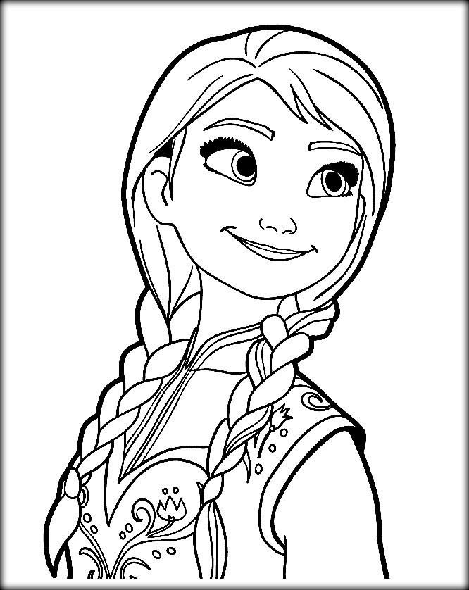 Ana And Elsa Coloring Pages  Disney Frozen Coloring Pages Elsa Let It Go Color Zini