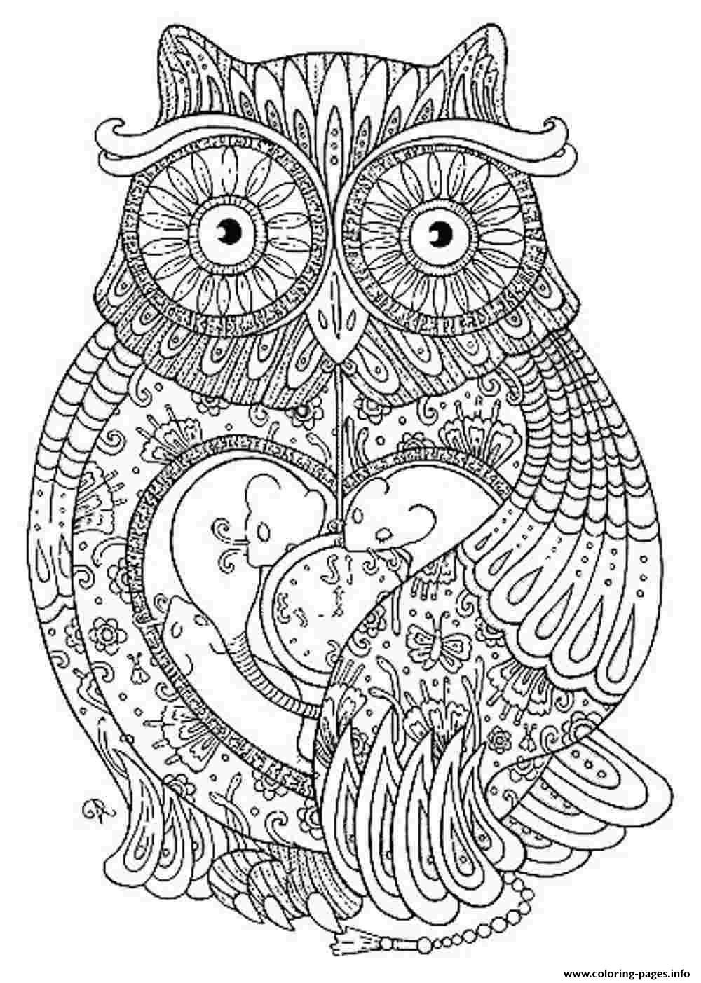 Animal Coloring Pages For Adults  Animal Coloring Pages For Adults Coloring Pages Printable