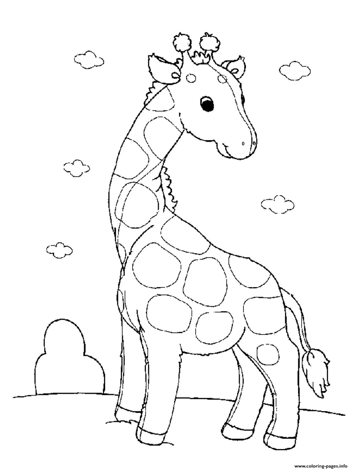 Animal Coloring Sheets For Girls  Baby Giraffe S For Girls Animals Printable13b0 Coloring