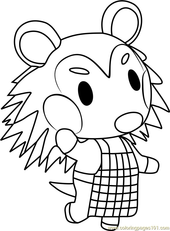 Animal Crossing Coloring Pages  Mabel Animal Crossing Coloring Page Free Animal Crossing