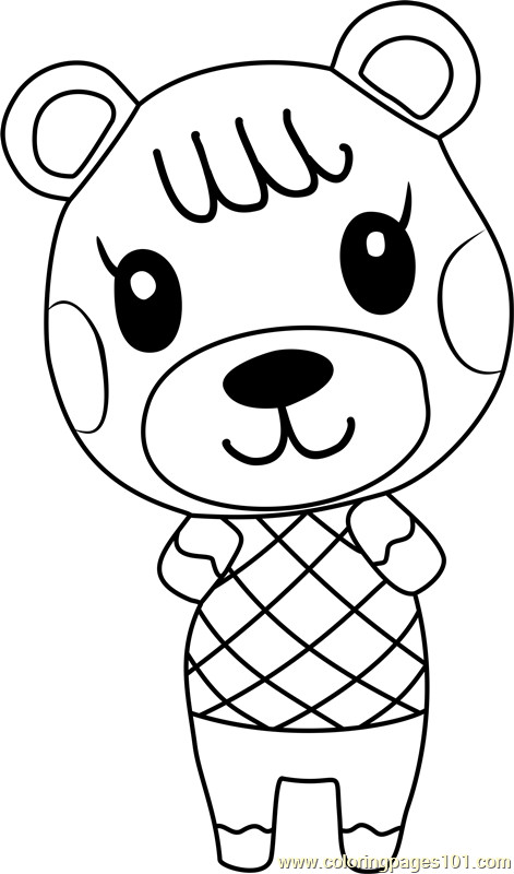 Animal Crossing Coloring Pages  Maple Animal Crossing Coloring Page Free Animal Crossing