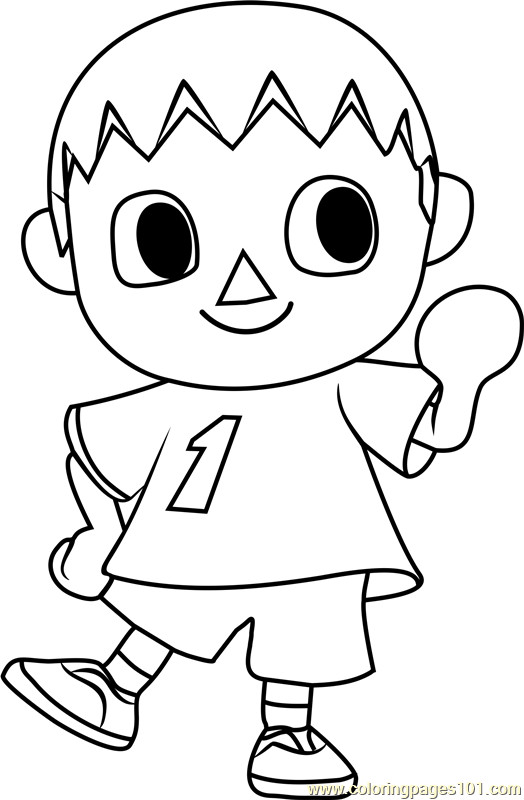 Animal Crossing Coloring Pages  The Villager Animal Crossing Coloring Page Free Animal