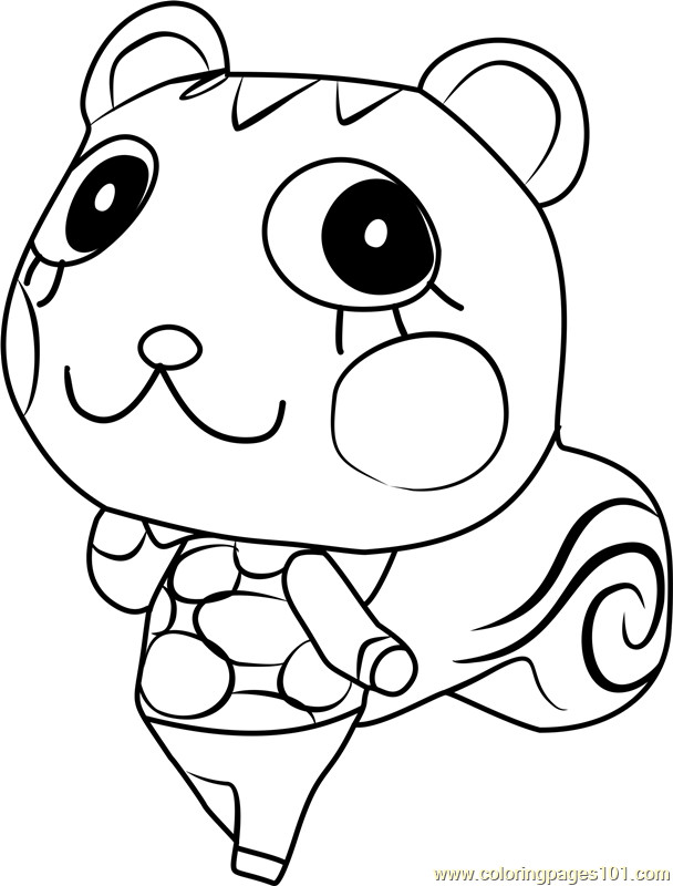 Animal Crossing Coloring Pages  Mint Animal Crossing Coloring Page Free Animal Crossing