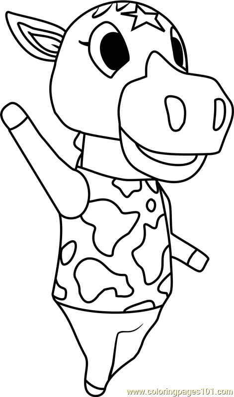 Animal Crossing Coloring Pages  Winnie Animal Crossing Coloring Page Free Animal