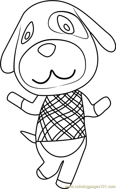 Animal Crossing Coloring Pages  Gol Animal Crossing Coloring Page Free Animal