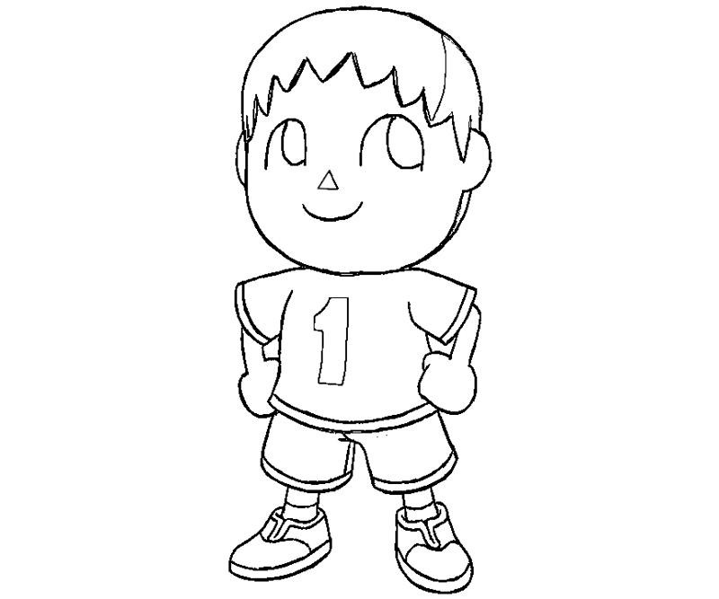 Animal Crossing Coloring Pages  Animal Crossing Free Colouring Pages