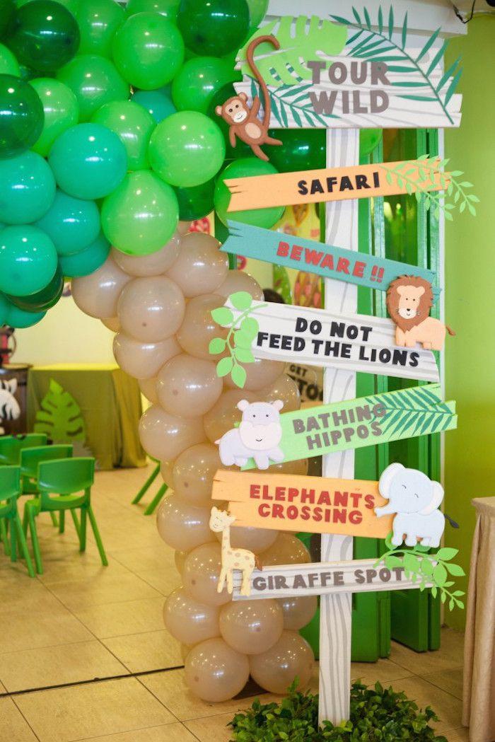 Animal Themed Birthday Party  Animal Safari Birthday Party