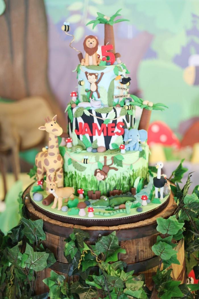 Animal Themed Birthday Party  Kara s Party Ideas Jungle Animals Birthday Party