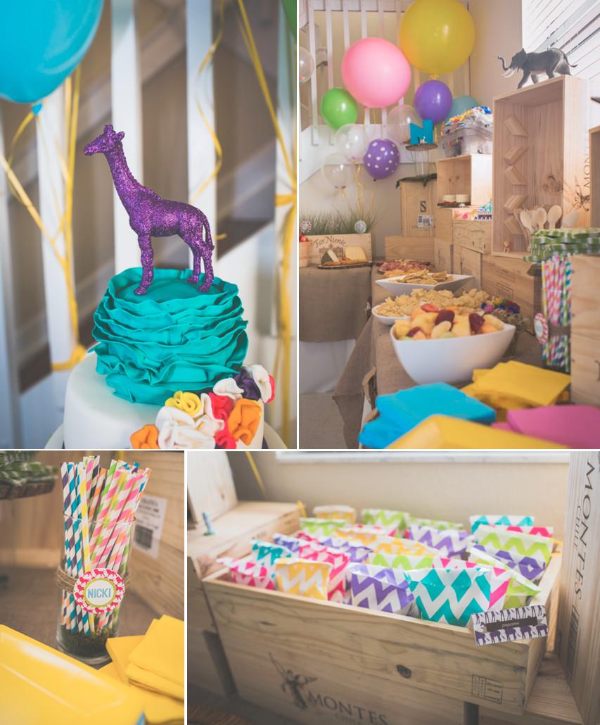 Animal Themed Birthday Party  Kara s Party Ideas Wild Child Safari Girl Boy Animal 3rd