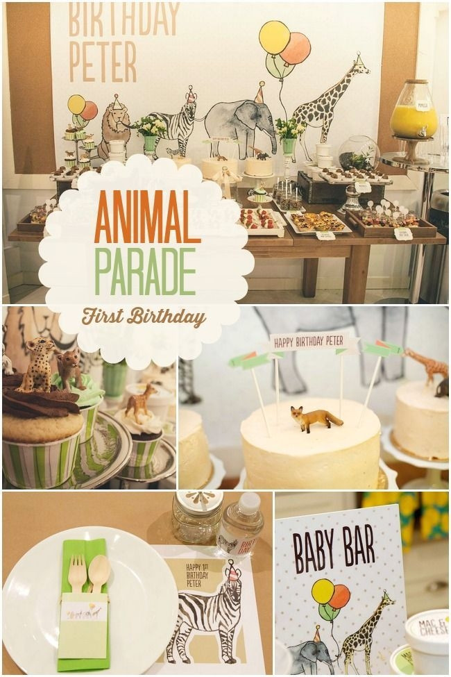 Animal Themed Birthday Party  20 Creative First Birthday Party Themes – At Home With Natalie