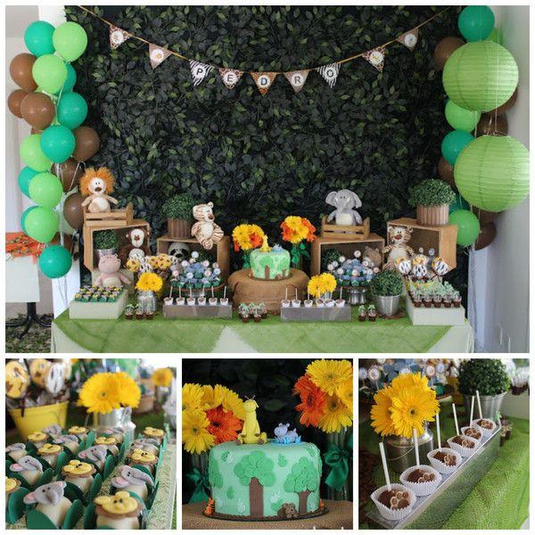Animal Themed Birthday Party  Jungle Animal Party – 1st birthday