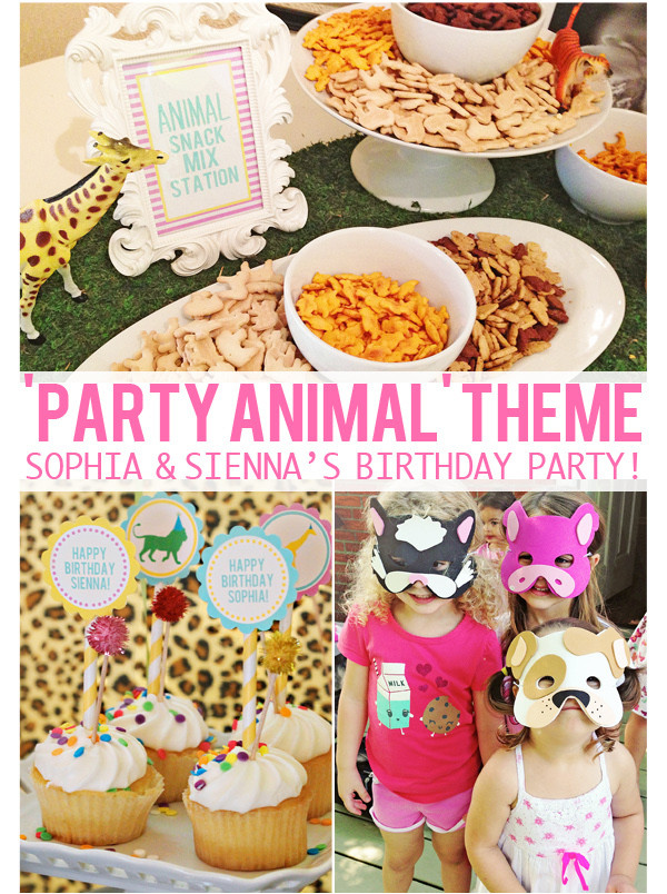 Animal Themed Birthday Party  The Girls' 'PARTY ANIMAL' 3rd & 5th Birthday Party – At