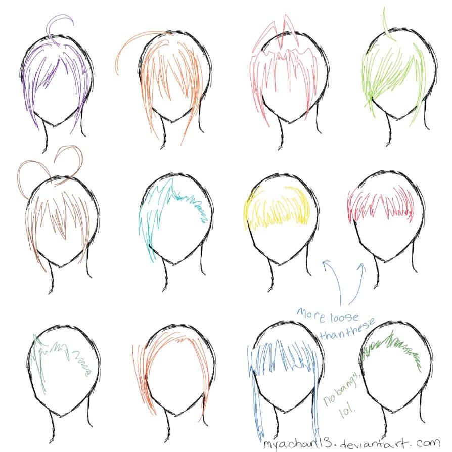 Anime Bangs Hairstyle  Hair Ref 12 Bangs by MyaChan13 on DeviantArt