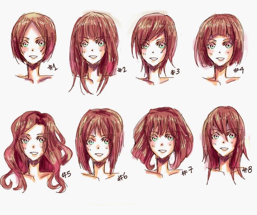 Anime Bangs Hairstyle  Hyuu ♥ Une infinitée de Manga 2 Apprendre à dessiner