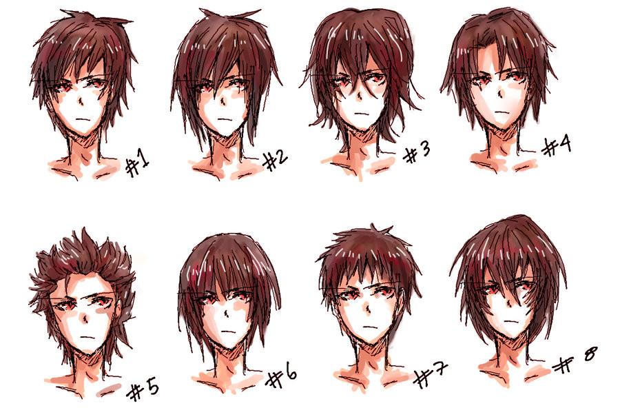 Anime Bangs Hairstyle  Anime hair style II by nyuhatter on DeviantArt