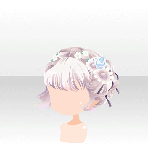 Best ideas about Anime Bun Hairstyles . Save or Pin Anime hair bun with flower crown I m an Artist Now.