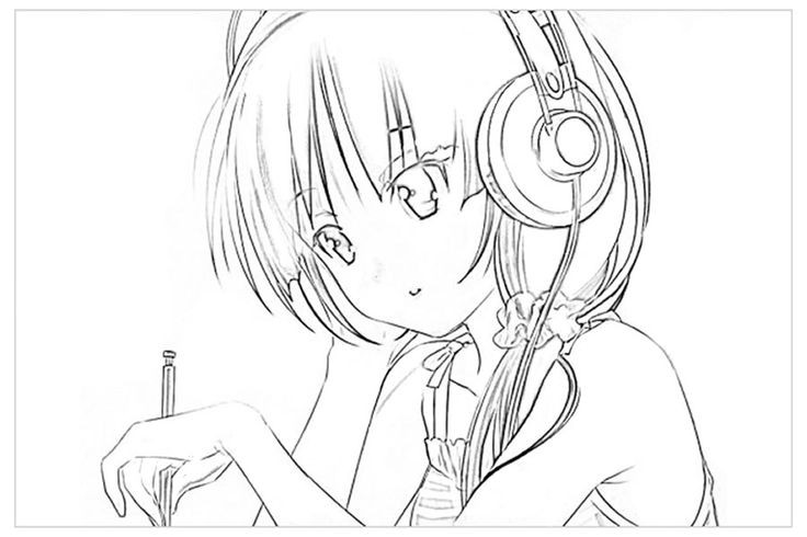 Anime Coloring Pages For Teens  Anime Coloring Pages To Print For Teenagers – Color Bros