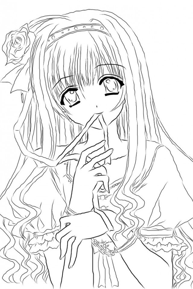 Anime Coloring Pages For Teens  Anime Coloring Pages for Adults Bestofcoloring