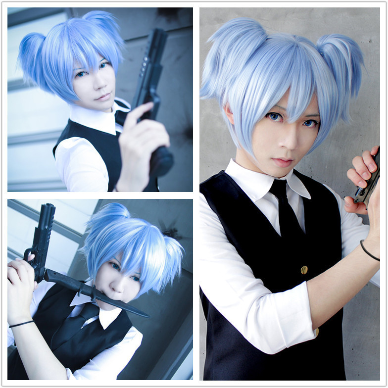Best ideas about Anime Girl Pigtail Hairstyle . Save or Pin MCOSER New And Cheap Cute 30cm Short Ice Blue Pigtails Now.
