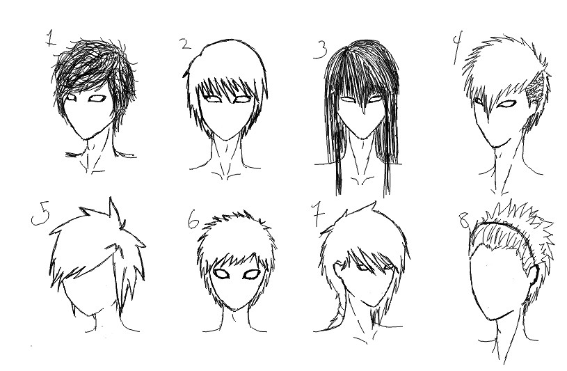 Anime Guy Hairstyles  Male Anime Hairstyles