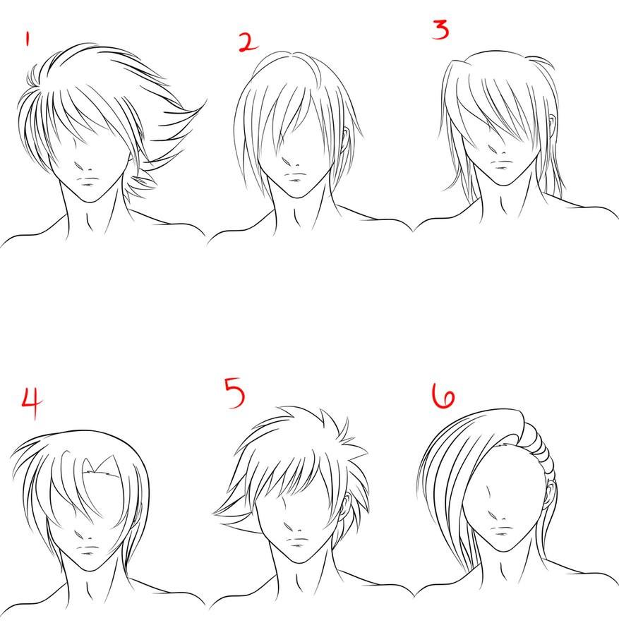 Anime Haircuts Male  Anime Male Hair Style 1 by RuuRuu Chan on DeviantArt
