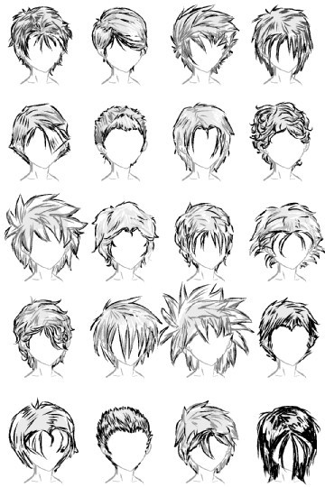 Anime Haircuts Male  20 Male Hairstyles by LazyCatSleepsDaily on DeviantArt