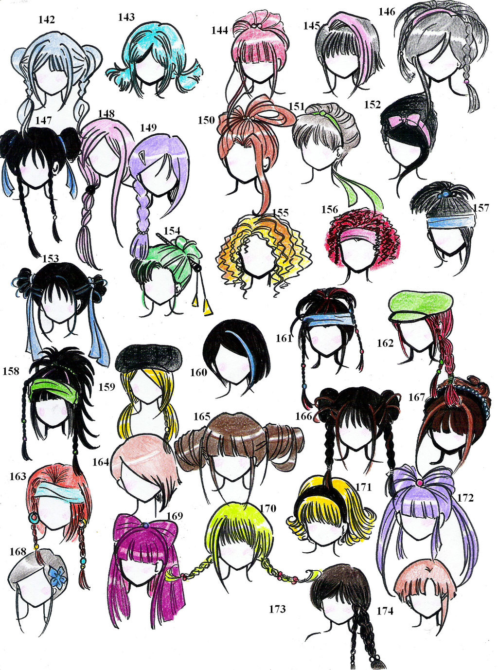 Anime Hairstyle  Eccentric and cute updos Page 2