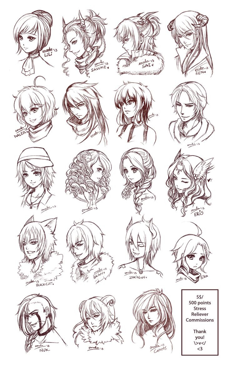 Anime Hairstyle  Drawing Anime Ideas Drawing Arts Sketch