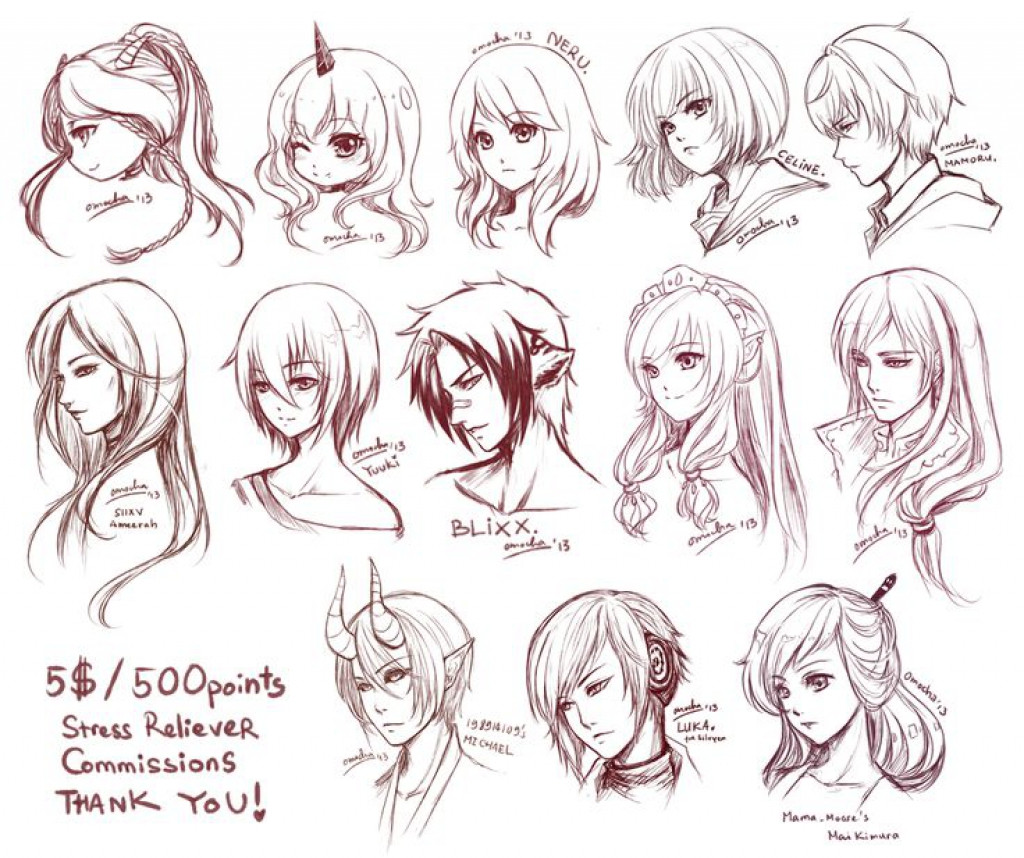 Anime Hairstyles For Girls  Male Anime Hairstyles Drawing at GetDrawings