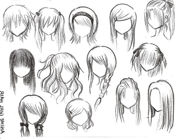 Anime Hairstyles For Girls  Top 10 Picture of Anime Girl Hairstyles