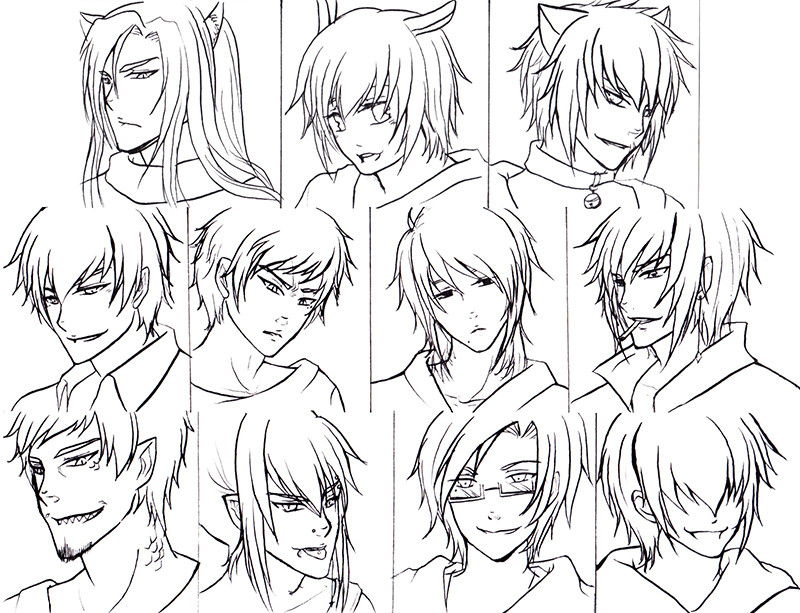 Anime Hairstyles For Girls  Pretty hairstyles for Anime Guy Hairstyle Best images