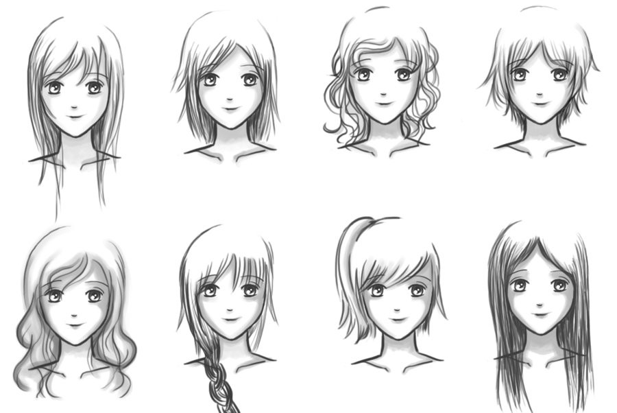Anime Hairstyles For Girls  Easiest Hairstyle Anime Hairstyles