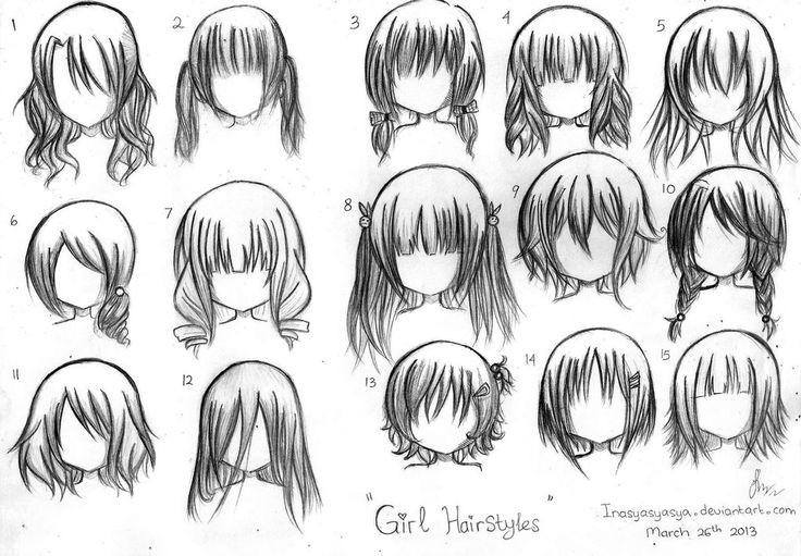 Anime Hairstyles For Girls  Formal hairstyles for Anime Hairstyles For Girls Anime