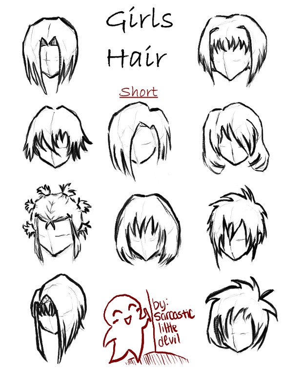 Anime Hairstyles For Short Hair  Cute Short Anime Hairstyles to Pin on Pinterest