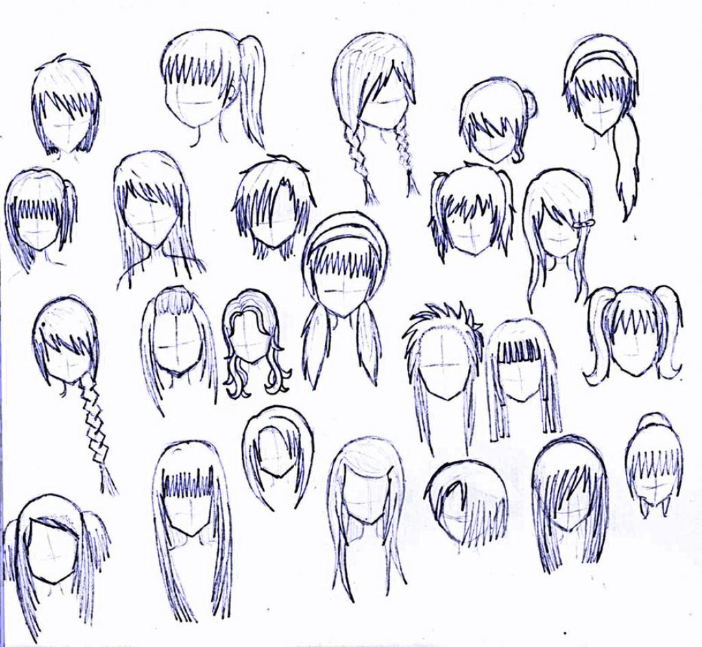Anime Hairstyles For Short Hair  Anime Girl Hairstyles Drawings Drawing Anime Girl Hair