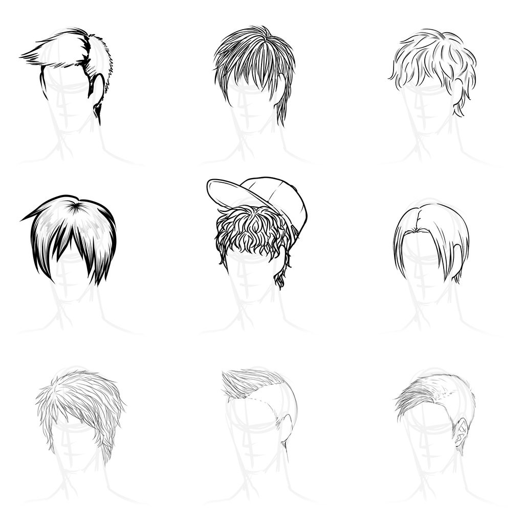 Anime Male Hairstyle  Pretty hairstyles for Anime Guy Hairstyle Best images
