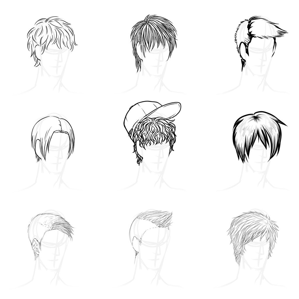 Anime Male Hairstyle  Cool Anime Male Hairstyles