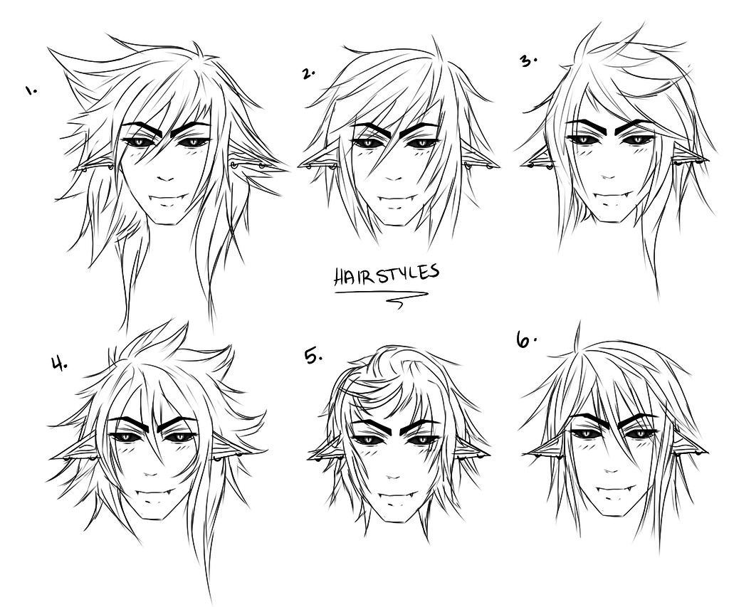 Anime Male Hairstyle  Male Hairstyles by Lynnrenk on DeviantArt
