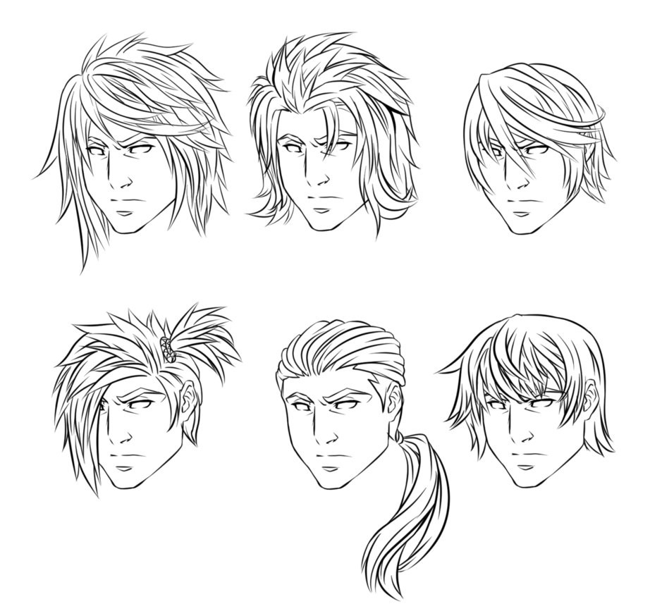 Anime Male Hairstyle  Anime Male Hairstyles by CrimsonCypher on DeviantArt
