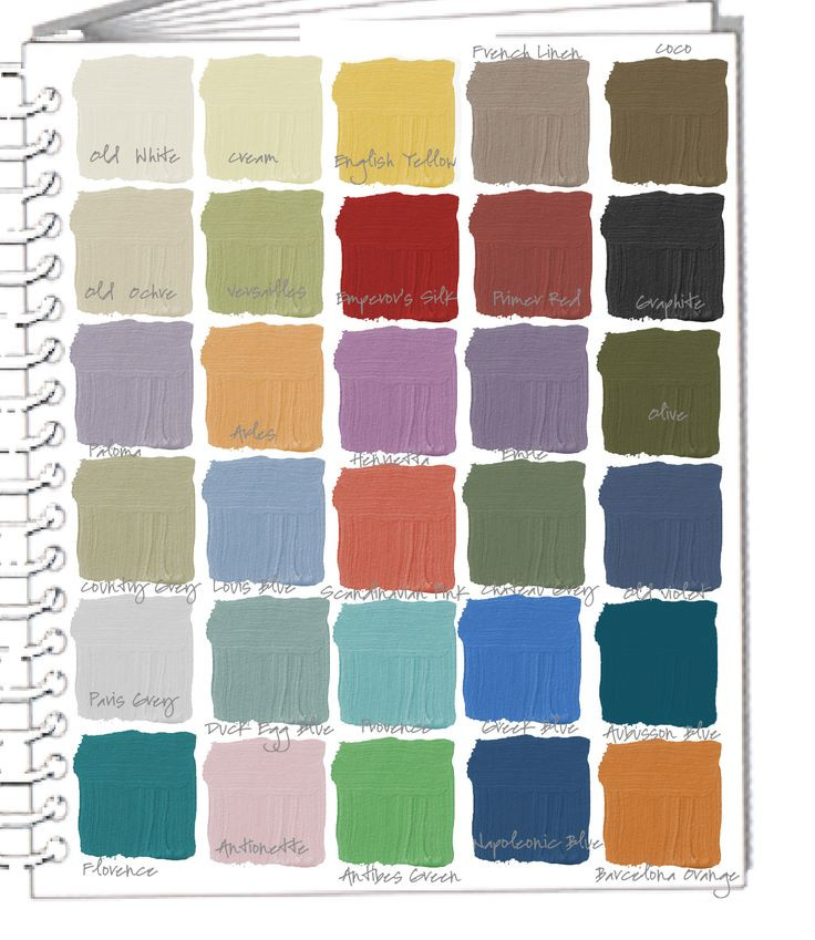 Best ideas about Annie Sloan Paint Colors . Save or Pin Colorways Swatchbook Annie Sloan Chalk Paint Colors Now.