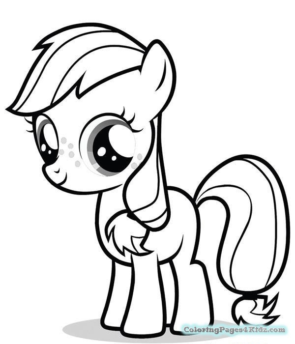 Applejack Coloring Pages  Applejack My Little Pony Coloring Pages