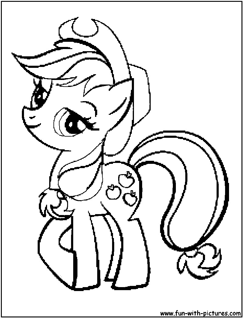 Applejack Coloring Pages  My Little Pony Apple Jack Coloring Pages