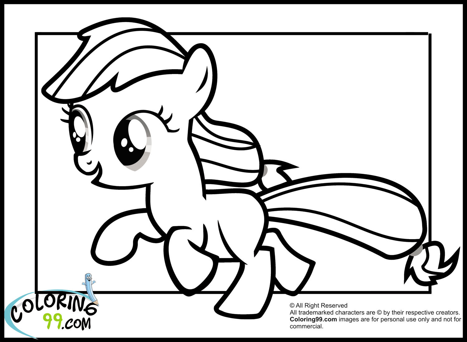 Applejack Coloring Pages  My Little Pony Applejack Coloring Pages